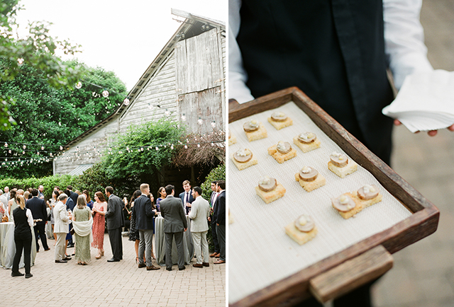 outdoor cocktail hour at Fearrington Barn - Sarah Der Photography