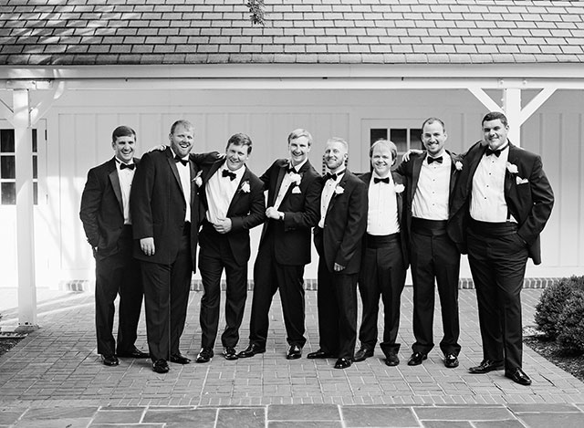 portrait of groomsmen at St. Mary's Episcopal Church