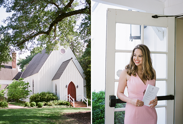 St. Mary's Episcopal Church in the summer, chapel with red door by Sarah Der Photography