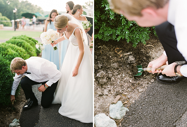Burying the bourbon for good luck at CCV by Sarah Der Photography