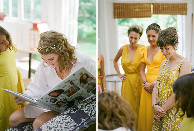bridesmaids make special scrapbook of memories - Sarah Der Photography