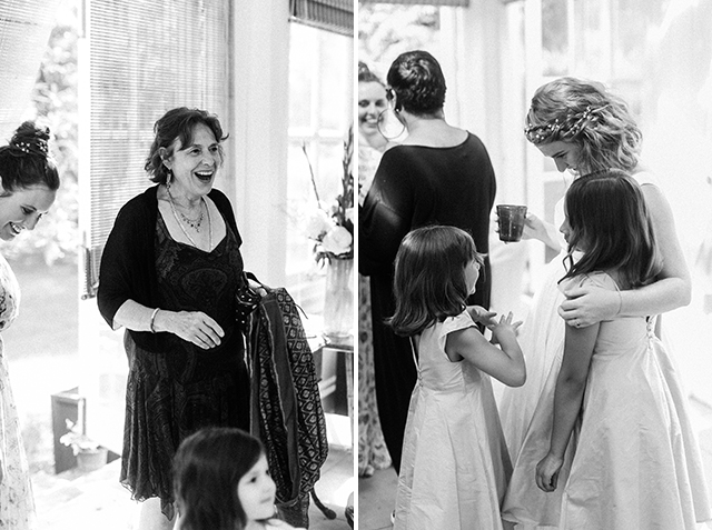 aunt surprised to see bride in dress - Sarah Der Photography