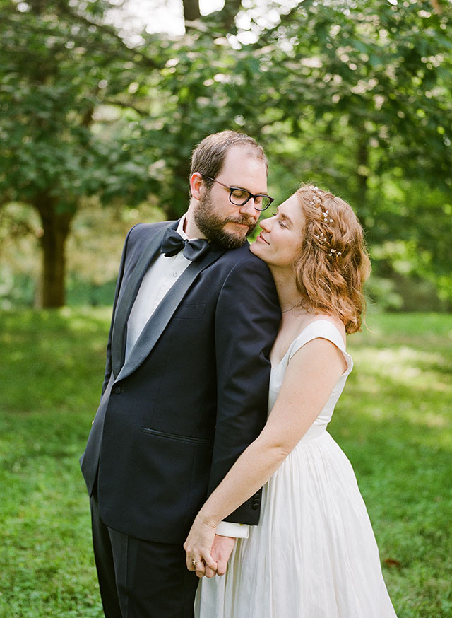 sweet portrait of bride and groom - Sarah Der Photography