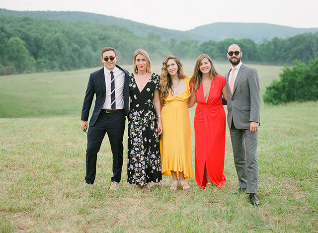 guests at outdoor ceremony in virginia - Sarah Der Photography