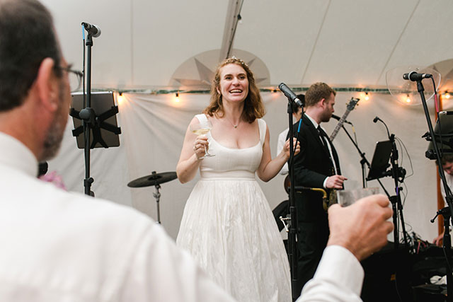 bride gives a toast