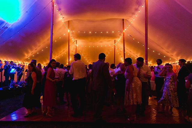 colorful dancing tent