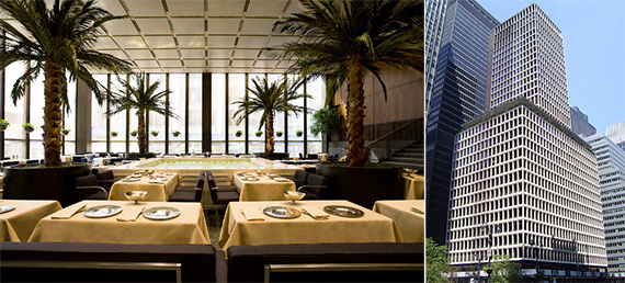 From left: The Four Seasons restaurant and 280 Park Avenue