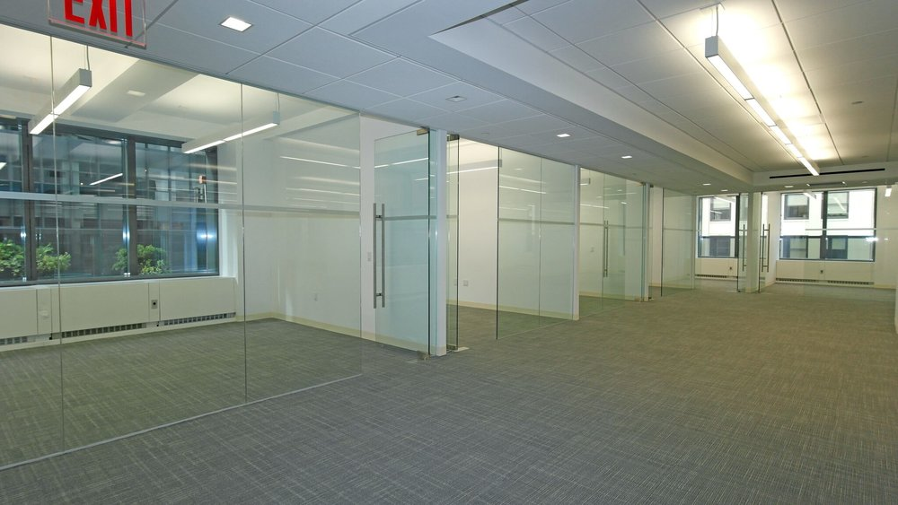 Glass front offices