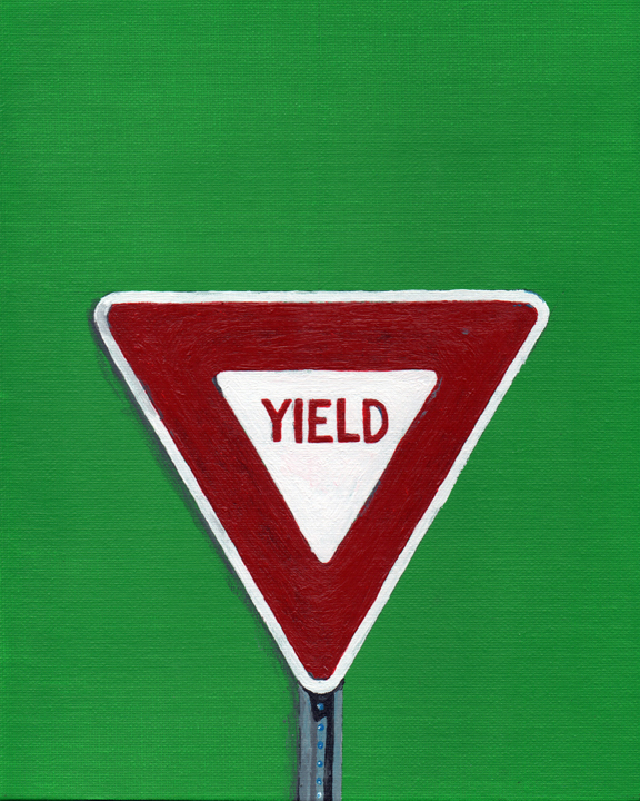 yield sign (mundane series)