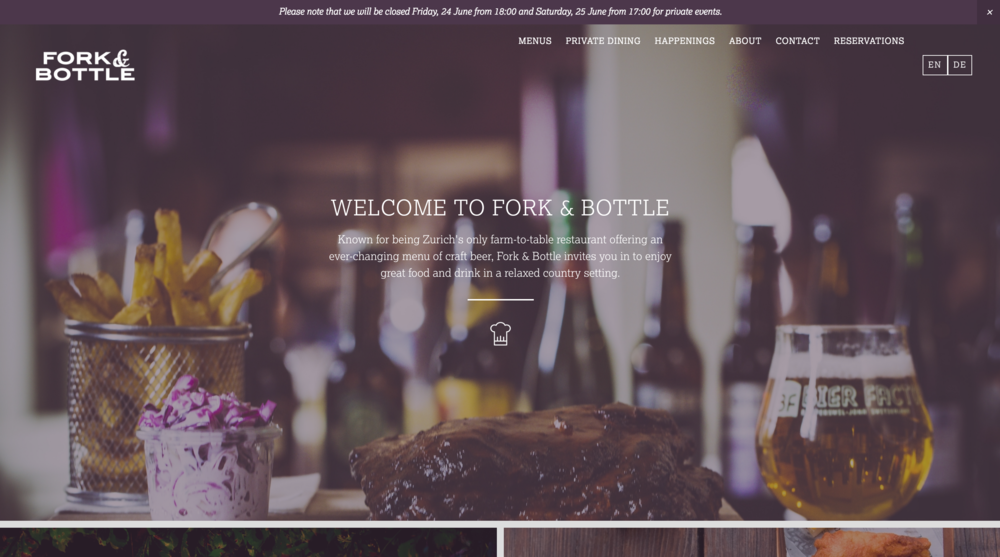 Fork & Bottle