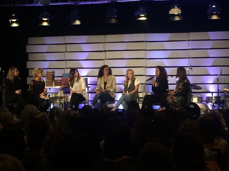 LIT conference panel discusssion: Amanda Jones, Beth Moore, Melissa Moore, Priscilla Shirer, Jennie Allen, Christy Nockels, and Christine Caine.