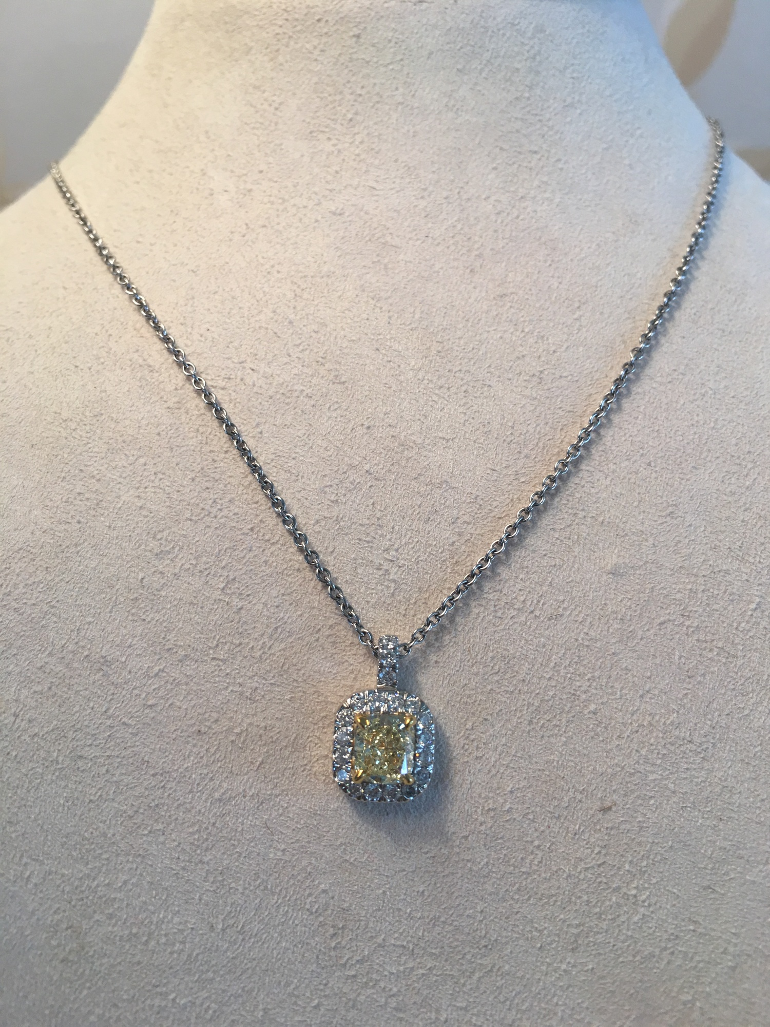 yellow sapphire and diamond pendant necklace — A Family Tradition