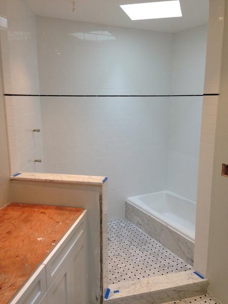 Bathroom Shower Tile Work by Arriaga Masonry