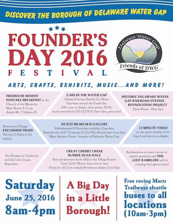 delaware water gap founders day