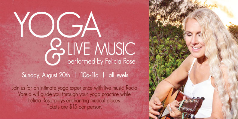 yoga and live music