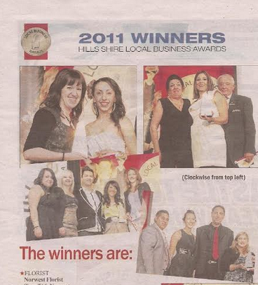 HIlls News Florist of The Year 2011