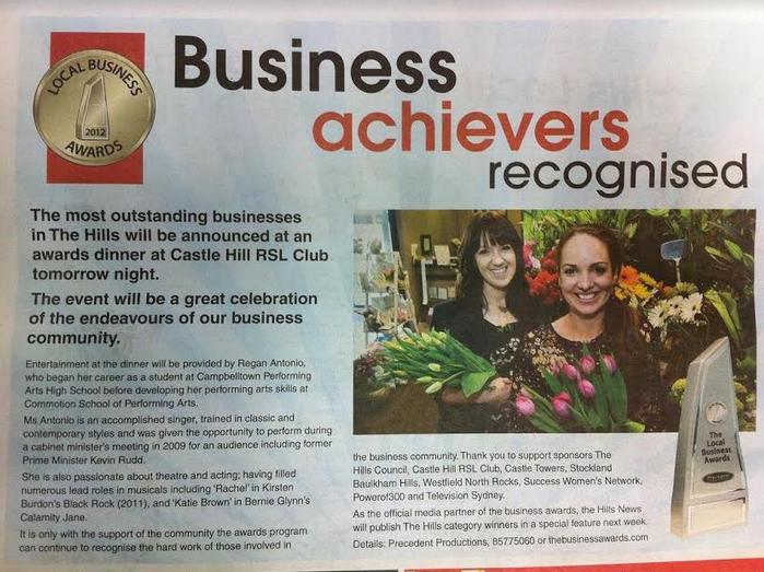Hills News 2012 Business Awards