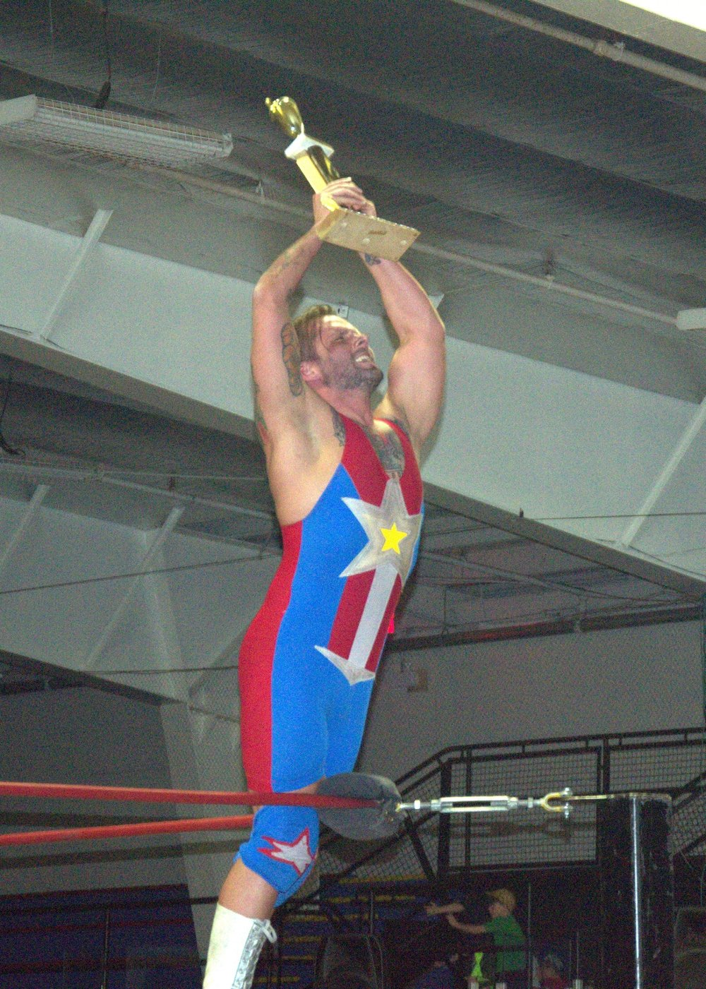 Troy Merrick, aka The American Patriot, after winning the Lobster Cup in Pictou, NS.