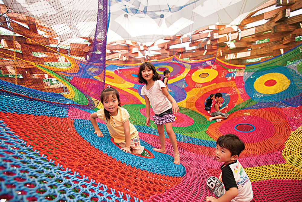 Run, Jump Explore - From tiny Bridgetown, Nova Scotia, Toshiko Horiuchi MacAdam and Charles MacAdam make incredible crocheted playgrounds for kids. Written for American Craft Magazine.