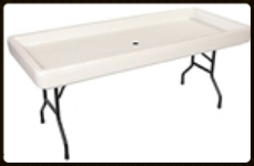 Fill & Chill 6' Folding table in white or black $24.00