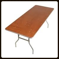 6' Banquet table Seats 6 - 8= $6.50 each  8' Banquet table  Seats 8 -10 $7.00 each