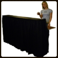 Portable Bar   with black or white skirting    $55.00 each