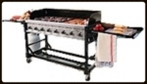 Gas (propane) Grill 2' X 5' with filled 20lb. tank $110.00 requires 2 propane tanks