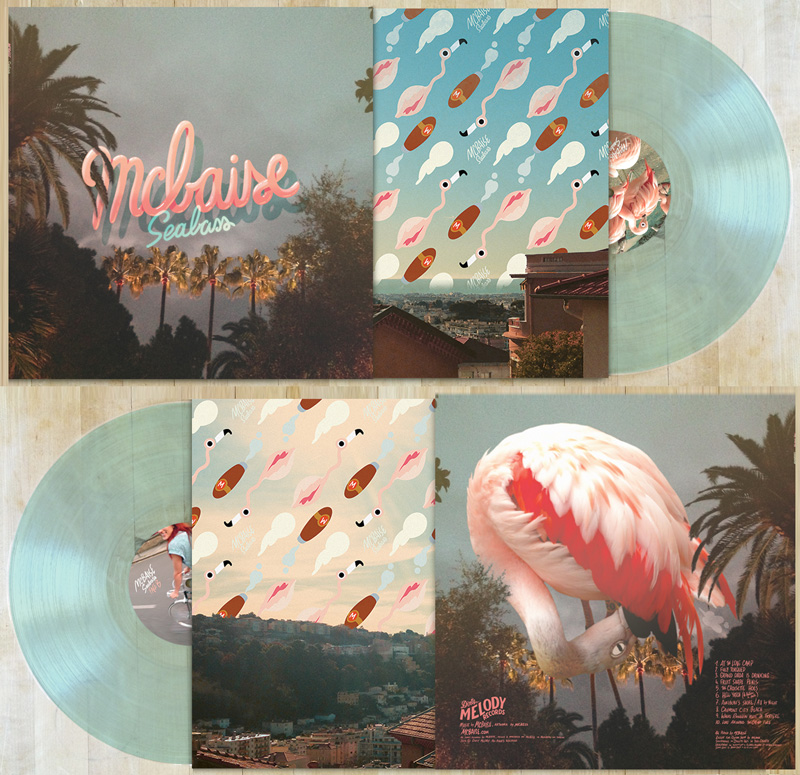 Here's a mockup of the record I've done for mcbaise, this went to the vinyl press yesterday and I guess we'll see in 6 weeks if it looks the same.   This is limited to 250 ex and already on sales here : mcbaise.com