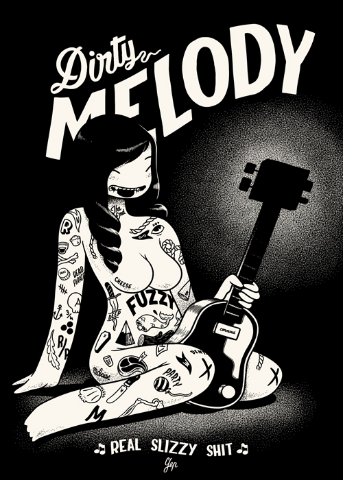 This is available printed on wood ( A2 )  and edition limited to 250 , you can get it   HERE        http://www.dudes-factory.com/english_pound/mcbess-dirtymelody-0201507700.html