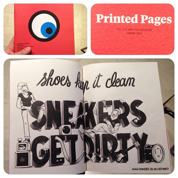 sneakers get covered in shit , @printedpages