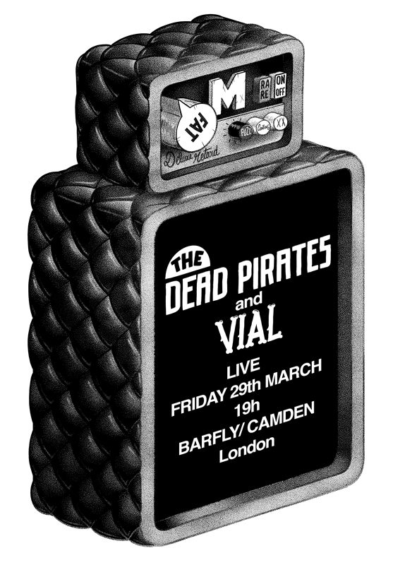 Alright we're playing this Friday with the Dead Pirates and Vial, we've got some new stuff that should rock the house, so hopefully I can make my way back to England in time for the gig and I'll share a beer with you guys. 5£ only for people on the facebook event : http://www.facebook.com/events/500623186669309/