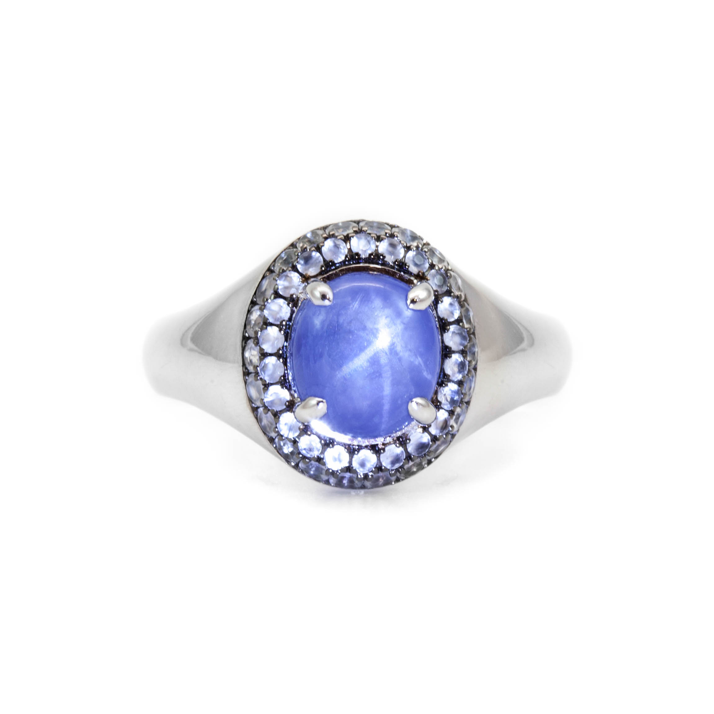 plated starfish jewelry sapphire rhodium star color ring cz cocktail brass bling blue pave shn