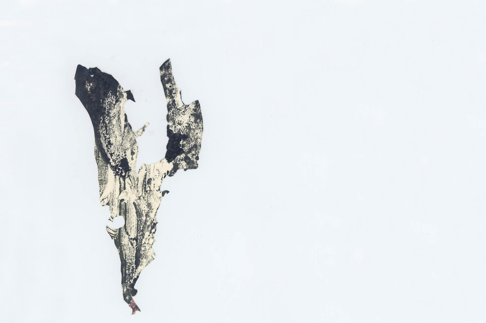Wings II, 2013, 5x13cm, ink and oil paint on paper