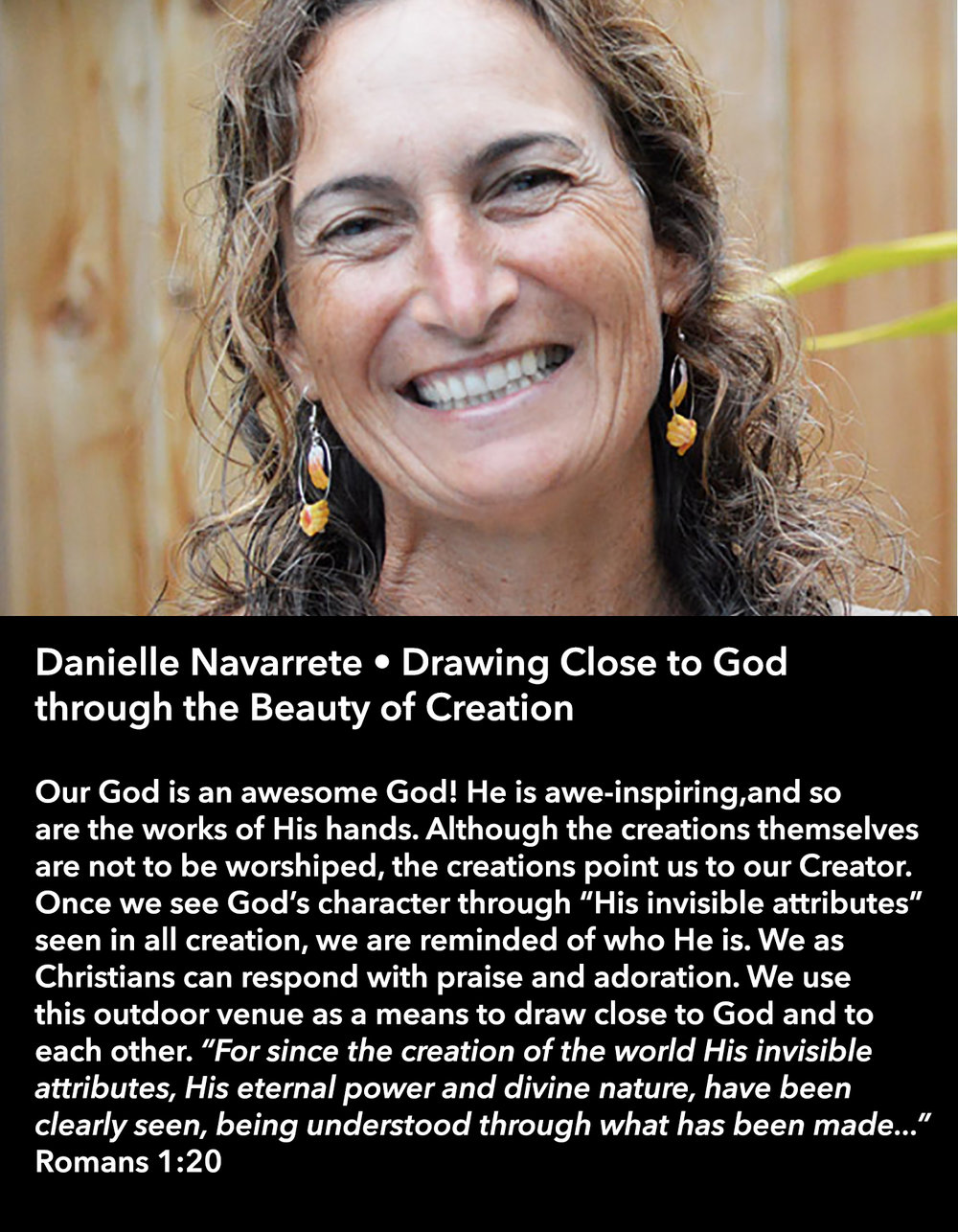 Danielle Navarrete • Drawing Close to God through the Beauty of Creation • Friday Afternoon, March 17 • 3:30 – 4:45 pm