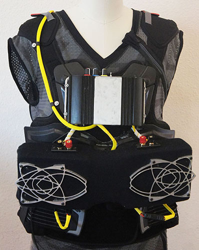 Speaker Vests  - Take the party on the road, to the beach or to the desert with this mobile sound system. The Speaker Jacket is always a blast to wear and you are guaranteed to be  in the center of the dance floor.