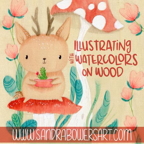 Watercolors on wood