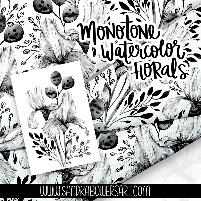 Monotone watercolors class