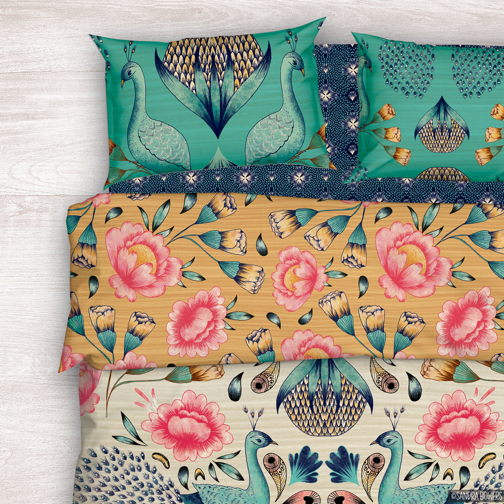 SANDRABOWERS-HOME-PEACOCKS BEDDING.jpg