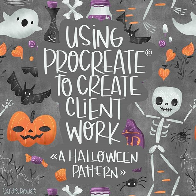 My newest @skillshare class is live! Learn how to use Procreate to create final icons for your client work or portfolio. Link to.my website in profile and go to the classes tab. #halloween #onlineclasses #licensing #sandrabowersart #ipadpro #procreateart #procreate