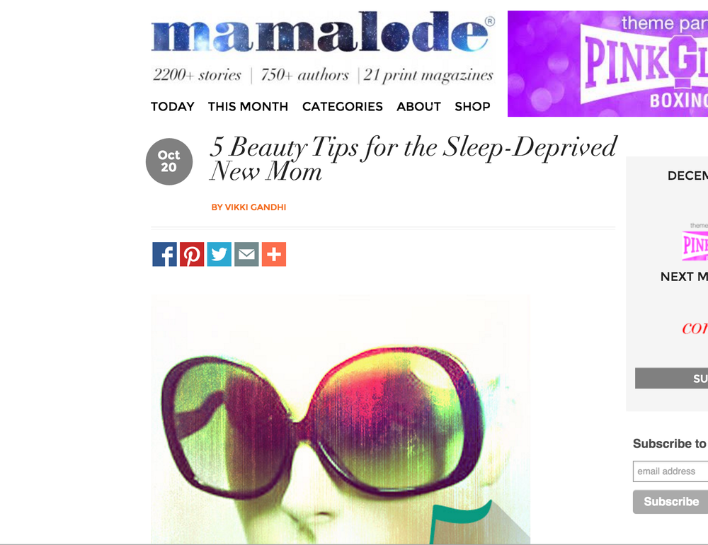 Mamalode 10/20/15 5 Beauty Tips for the Sleep Deprived New Mom