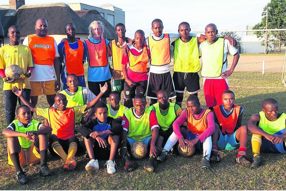 Photo:The team (back, from left) Fana Ndimande, Chief Bongani,Mazwi Ngcobo, Brendan Moran (coach), Themba Ngcobo (captain), Spe Zondi, Stability Sifiso, Hlegi Bengu, Phila Buthelezi, and (front, from left) Ayanda Mthethwa, Qiniso Buthelez