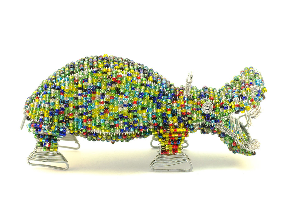 Beaded Hippo