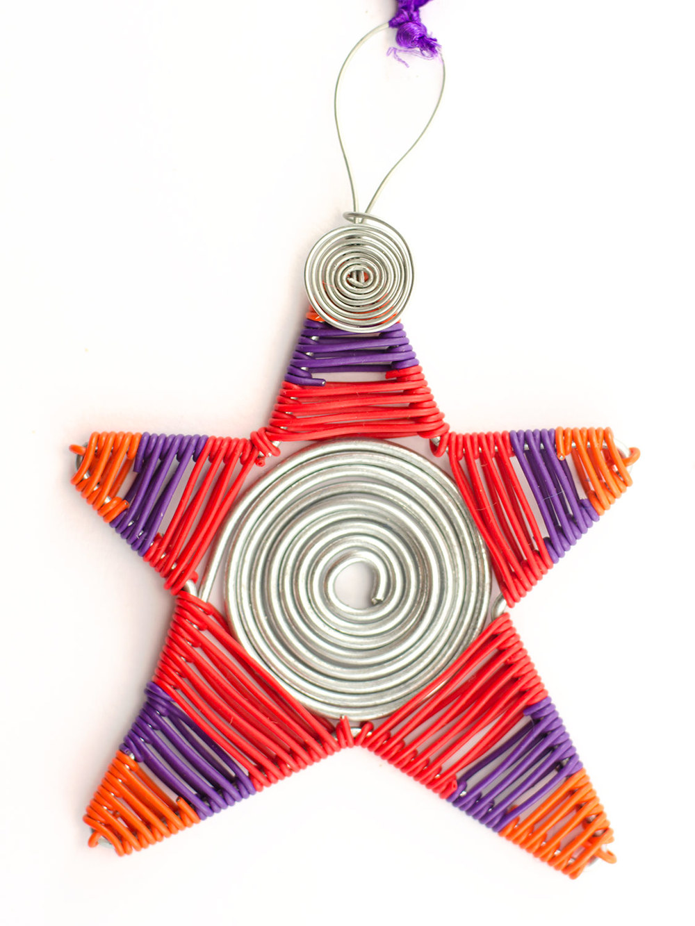 Wire spiral scooby star
