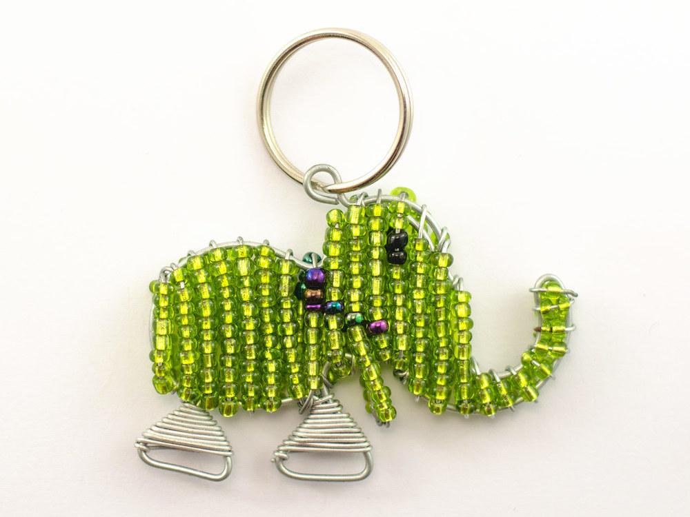 Beaded Elephant Keyring