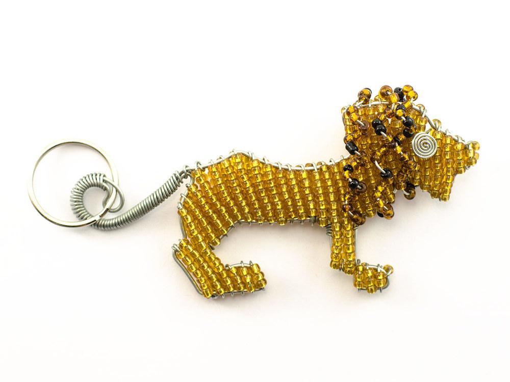 Beaded Lion Keyring