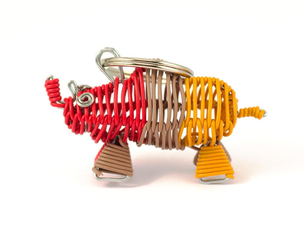 3D Scooby rhino Keyring