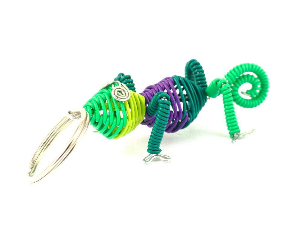 3D Scooby chameleon keyring