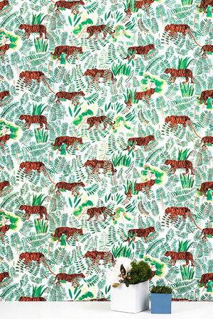 Burma Vetiver Tiger Wallpaper