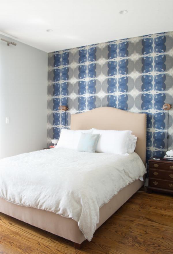 Blues & a slight silver sheen - Interior design by Homepolish.