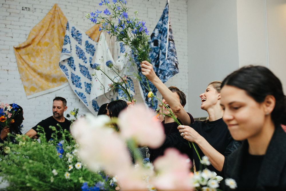 DIY Bouquets to celebrate the launch of Flat Vernacular's newest capsule collection, Wilds! Photography by  Sylvie Rosokoff .